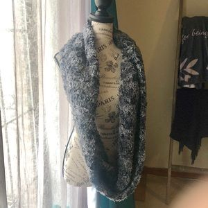 Loft faux fur infinity scarf